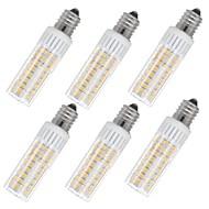 お買い得  LED コーン型電球-6本 7.5 W 937 lm E14 LEDコーン型電球 T 100 LEDビーズ SMD 2835 温白色 / クールホワイト 85-265 V