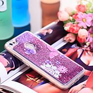 お買い得  携帯電話ケース-ケース 用途 Xiaomi Redmi Note 5A 耐衝撃 / キラキラ仕上げ バックカバー バタフライ / キラキラ仕上げ ソフト TPU のために Redmi Note 5A