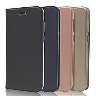 お買い得  携帯電話ケース-ケース 用途 Asus Zenfone 4 ZE554KL / Zenfone 4 Selfie ZD552KL カードホルダー / スタンド付き / フリップ フルボディーケース ソリッド ハード PUレザー のために Asus Zenfone 4 ZE554KL / Asus Zenfone 4 Selfie ZD553KL / Asus Zenfone 4 Selfie ZD552KL