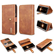 Case For Samsung Galaxy Note 9 / Note 8 Wallet / Card Holder / Shockproof Full Body Cases Solid Colored Hard Genuine Leather for Note 9 / Note 8
