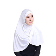 Недорогие Шарфы и шали-Жен. Классический Хиджаб - Пайетки Однотонный
