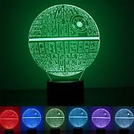 abordables Lámparas LED Novedosas-1pc MOON Luz de noche LED Cambiar USB Color variable / Cool / Encantador <=36 V
