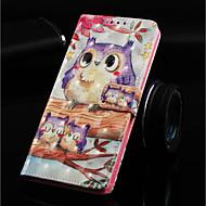 abordables Fundas / Carcasas para Galaxy Note-Funda Para Samsung Galaxy Note 9 / Nota 8 Cartera / Soporte de Coche / con Soporte Funda de Cuerpo Entero Búho Dura Cuero de PU para Note 9 / Note 8