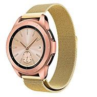 Недорогие Аксессуары для смарт-часов-Ремешок для часов для Samsung Galaxy Watch 46 Samsung Galaxy Спортивный ремешок Нержавеющая сталь Повязка на запястье