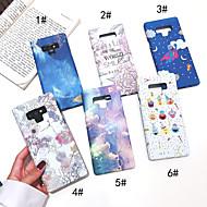 Недорогие Чехлы и кейсы для Galaxy Note-Кейс для Назначение SSamsung Galaxy Note 9 / Note 8 Сияние в темноте / Матовое Кейс на заднюю панель Пейзаж / Цветы Твердый ПК для Note 9 / Note 8