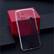 abordables Fundas para iPhone 8 Plus-Funda Para Apple iPhone XR / iPhone XS Max Transparente / Diseños Funda Trasera Mariposa / Chica Sexy Suave TPU para iPhone XS / iPhone XR / iPhone XS Max