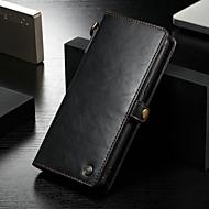 Недорогие Чехлы и кейсы для Galaxy Note-CaseMe Кейс для Назначение Huawei Note 8 Кошелек / Бумажник для карт / Защита от удара Чехол Однотонный Твердый Кожа PU для Note 8