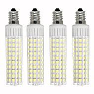 お買い得  LED コーン型電球-4本 8.5 W 1105 lm E14 LEDコーン型電球 T 125 LEDビーズ SMD 2835 調光可能 温白色 / クールホワイト 220 V