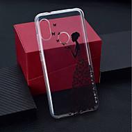 preiswerte Handyhüllen-Hülle Für Xiaomi Xiaomi Pocophone F1 / Xiaomi Redmi 6 Pro Transparent / Muster Rückseite Schmetterling / Sexy Lady Weich TPU für Xiaomi Redmi Note 6 / Xiaomi Pocophone F1 / Xiaomi Redmi 6 Pro