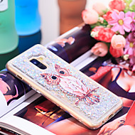 Недорогие Чехлы и кейсы для Galaxy А-Кейс для Назначение SSamsung Galaxy A8 2018 Защита от удара / Сияние и блеск Кейс на заднюю панель Сова / Сияние и блеск Мягкий ТПУ для A8 2018