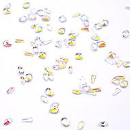 povoljno -Sintetički gemstones / Opeka / Smola 3D Nail Naljepnice Nakit za nokte Rhinestones Za Prst noktiju Crystal / 3D sučelje / Prozirno Nakit serije Romantična serija Serija poruka nail art Manikura