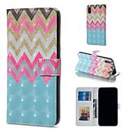 Недорогие Кейсы для iPhone 8 Plus-Кейс для Назначение Apple iPhone XR / iPhone XS Max Кошелек / Бумажник для карт / со стендом Чехол Полосы / волосы Твердый Кожа PU для iPhone XS / iPhone XR / iPhone XS Max