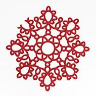 abordables Textiles para el Hogar-Hogar multifunción ecología creativa patrón simple flor artesanía almohadilla de aislamiento de poliéster hueco mantel individual antideslizante antideslizante