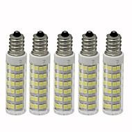 abordables Bombillas LED de Mazorca-5pcs 4.5 W 450 lm E12 Bombillas LED de Mazorca T 76 Cuentas LED SMD 2835 Regulable Blanco Cálido / Blanco Fresco 110 V