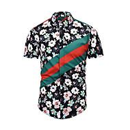 cheap -Men's Street chic Shirt - Floral