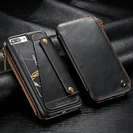 Недорогие Кейсы для iPhone 8 Plus-CaseMe Кейс для Назначение Apple iPhone 8 Plus / iPhone 7 Plus Кошелек / Бумажник для карт / Защита от удара Чехол Однотонный Твердый Кожа PU для iPhone 8 Pluss / iPhone 7 Plus