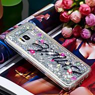 Недорогие Чехлы и кейсы для Galaxy S8 Plus-Кейс для Назначение SSamsung Galaxy S8 Plus Защита от удара / Сияние и блеск Кейс на заднюю панель Сияние и блеск Мягкий ТПУ для S8 Plus