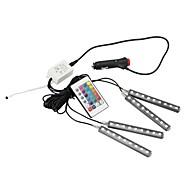 abordables Gadgets LED-Las luces del coche llevaron la lámpara de neón de la tira luces decorativas de la atmósfera luz interior del coche