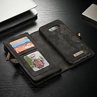 Недорогие Чехлы и кейсы для Galaxy S-CaseMe Кейс для Назначение SSamsung Galaxy S8 Plus Кошелек / Бумажник для карт / со стендом Чехол Однотонный Твердый Кожа PU для S8 Plus
