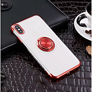 taske til Apple iPhone xr xs xs max ringholder / ultra tynd bagcover solid farvet soft tpu til iphone x 8 8 plus 7 7plus 6s 6s plus se 5 5s