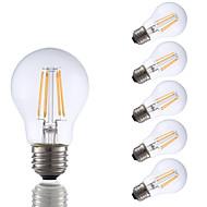 levne -GMY® 6ks 3.5 W 350 lm E26 / E27 LED žárovky s vláknem A17 4 LED korálky COB Ozdobné Teplá bílá 120 V