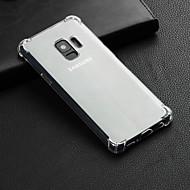 זול Samsung-מגן עבור Samsung Galaxy S9 Plus / S9 עמיד בזעזועים / שקוף כיסוי אחורי אחיד רך TPU ל S9 / S9 Plus / S8 Plus