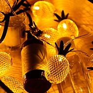 voordelige -2m Verlichtingsslingers 10 LEDs Geel Decoratief / Aanbiddelijk 5 V