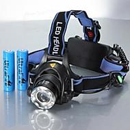 お買い得  フラッシュライト/ランタン/ライト-ヘッドランプ 自転車用ヘッドライト LED LED 1 エミッタ 1200 lm 3 照明モード バッテリー付き ズーム可能, 防水, 調整可 キャンプ / ハイキング / ケイビング, 日常使用, サイクリング