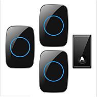 رخيصةأون -Factory OEM لاسلكي واحد إلى ثلاثة الجرس موسيقى / دينغ دونغ جرس الباب غير المرئية