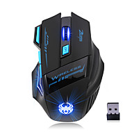 お買い得  -Factory OEM ワイヤレスbluetooth4.1 ゲーミングマウス 7 pcs キー RGB光 4調整可能なDPIレベル 3200 dpi