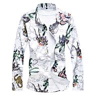 cheap -Men's Chinoiserie Shirt - Floral