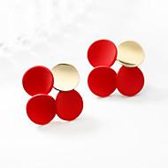 levne -Dámské Geometrické Peckové náušnice - Pozlacené Geometrik Klasické Šperky Červená Pro Svatební Párty Dovolená 1 Pair