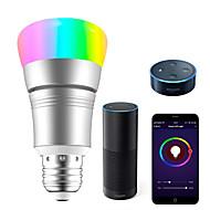 お買い得  -KWB 1セット 7 W 700-800 lm E26 / E27 LEDスマート電球 A19 22 LEDビーズ SMD 5730 Smart / APPコントロール / 計時 RGBW 100-240 V