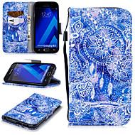 Недорогие Чехлы и кейсы для Galaxy A5(2017)-Кейс для Назначение SSamsung Galaxy A5(2017) Кошелек / Бумажник для карт / Защита от удара Чехол Ловец снов Твердый Кожа PU для A5 (2017)