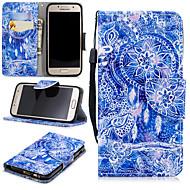 Недорогие Чехлы и кейсы для Galaxy A3(2017)-Кейс для Назначение SSamsung Galaxy A3(2017) Кошелек / Бумажник для карт / Защита от удара Чехол Ловец снов Твердый Кожа PU для A3 (2017)