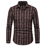 cheap -Men's Basic T-shirt - Striped / Color Block / Check