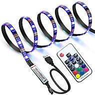 Недорогие -ZDM® 1m Наборы ламп / RGB ленты 60 светодиоды 5050 SMD 17-клавишный пульт дистанционного управления RGB Водонепроницаемый / Можно резать / USB 5 V / Работает от USB 1 комплект