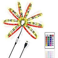 voordelige -ZDM® 2m Verlichtingssets / RGB-verlichtingsstrips 60 LEDs 5050 SMD 1 24-toetsen afstandsbediening RGB Knipbaar / USB / Geschikt voor voertuigen 5 V / Voeding Via USB 1 set