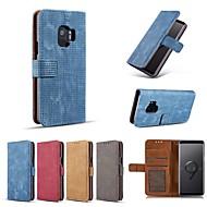 Недорогие Чехлы и кейсы для Galaxy S7-Кейс для Назначение SSamsung Galaxy S9 Plus / S8 Plus Кошелек / Бумажник для карт / Защита от удара Чехол Однотонный Твердый Кожа PU для S9 / S9 Plus / S8 Plus