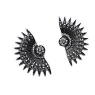 hesapli -Kadın's Eski Tip Tarz Damla Küpeler - Simüle Elmas Avrupa, moda, Moda Mücevher Siyah Uyumluluk Günlük Cadde / 1 çift