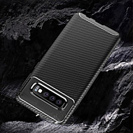 Недорогие Чехлы и кейсы для Galaxy S-Кейс для Назначение SSamsung Galaxy Galaxy S10 / Galaxy S10 Plus Рельефный Кейс на заднюю панель Однотонный Мягкий Углеродное волокно для S9 / S9 Plus / Galaxy S10