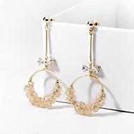 levne -Dámské Lustr Visací náušnice - Pozlacené Umělé diamanty Luxus Šperky Zlatá Pro Svatební Párty Jdeme ven 1 Pair