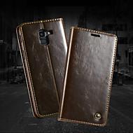 CaseMe Case สำหรับ Samsung Galaxy J6 Wallet / Card Holder / with Stand ตัวกระเป๋าเต็ม สีพื้น Hard หนัง PU สำหรับ J6 (2018) / J6 Plus / J4 Plus