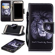 Недорогие Чехлы и кейсы для Galaxy A3(2017)-Кейс для Назначение SSamsung Galaxy A3(2017) Кошелек / Бумажник для карт / Защита от удара Чехол Лев Твердый Кожа PU для A3 (2017)