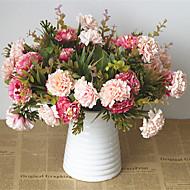 お買い得  -人工花 5 ブランチ クラシック 欧風 田園 スタイル 菊の花 テーブルトップフラワー