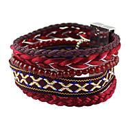 levne -Dámské Plaited tkalcovský stav náramek - Módní, Cikánský Náramky Šperky Červená Pro Denní Rande