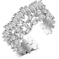levne -Dámské Otevřete kruh Měď Fashion Ring Šperky Zlatá / Stříbrná / Růžová Pro Svatební Zásnuby Dar Nastavitelný