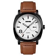 저렴한 -SKMEI 남성용 드레스 시계 손목 시계 석영 스테인레스 스틸 가죽 블랙 / 브라운 30 m 방수 야광 아날로그 클래식 패션 미니멀리스트 - 브라운 블랙 / 실버 블랙 / 로즈 골드 1 년 배터리 수명