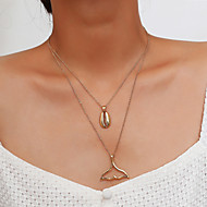 cheap -Women's Layered Necklace - Tropical Gold, Silver 40 cm Necklace Jewelry 1pc For Wedding, Birthday, Daily, Club, Bikini
