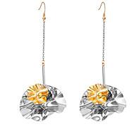 preiswerte -Damen Klassisch Tropfen-Ohrringe - Stilvoll Einfach Schmuck Gold / Silber Für Strasse 1 Paar